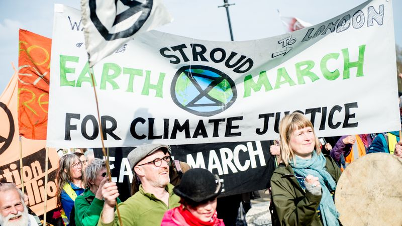 Cumbrians have traveled to London to join nationwide climate change protest.