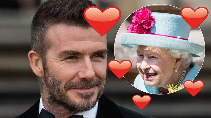 David Beckham mocked by fans over tribute to the Queen
