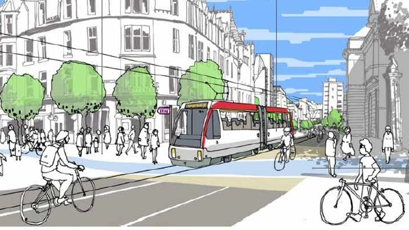 New plans could see Edinburgh tram extension to ERI