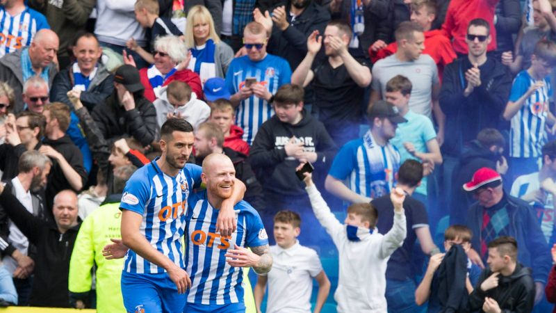 Late Eamonn Brophy penalty seals Kilmarnock's third-place finish