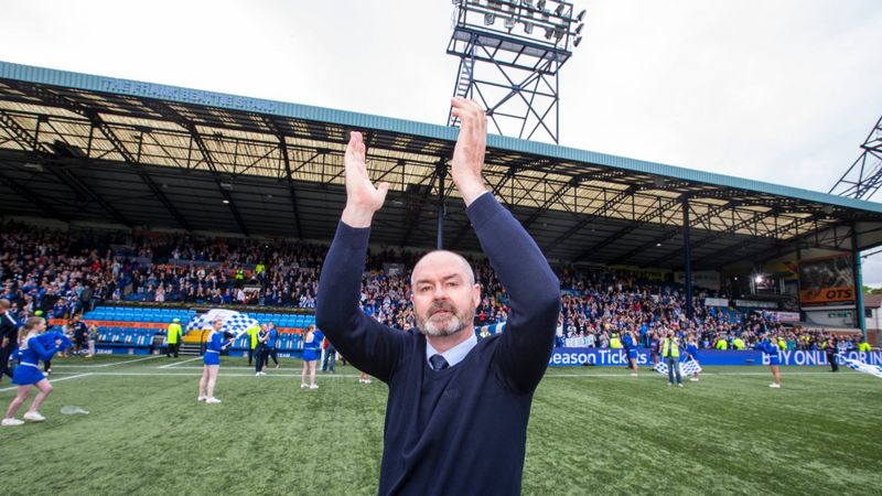 Steve Clarke apologises for not winning a trophy at Kilmarnock