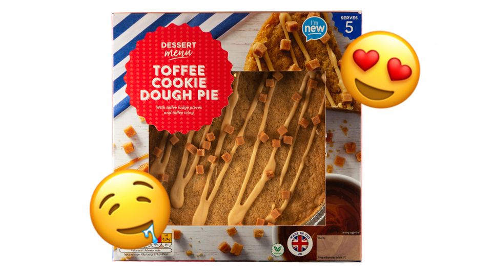 Aldi Launch Brand New Toffee Cookie Dough Pie