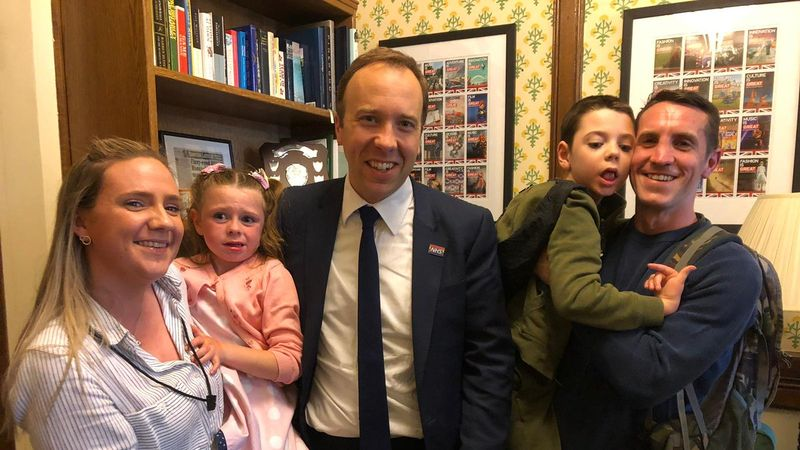 Cheshire family meet Health Secretary in fight to save their children