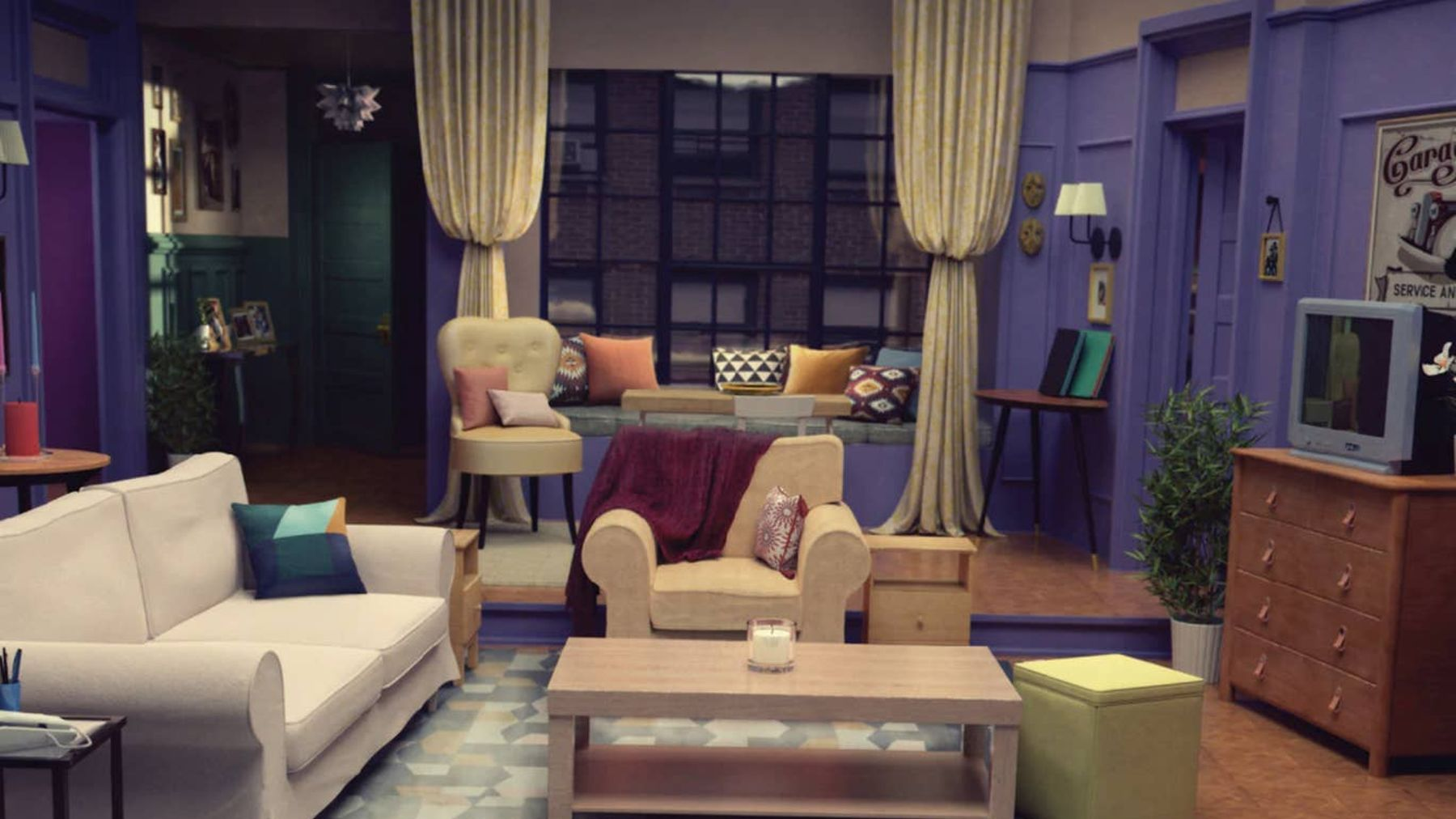 ikea recreated tv's most iconic living rooms using their