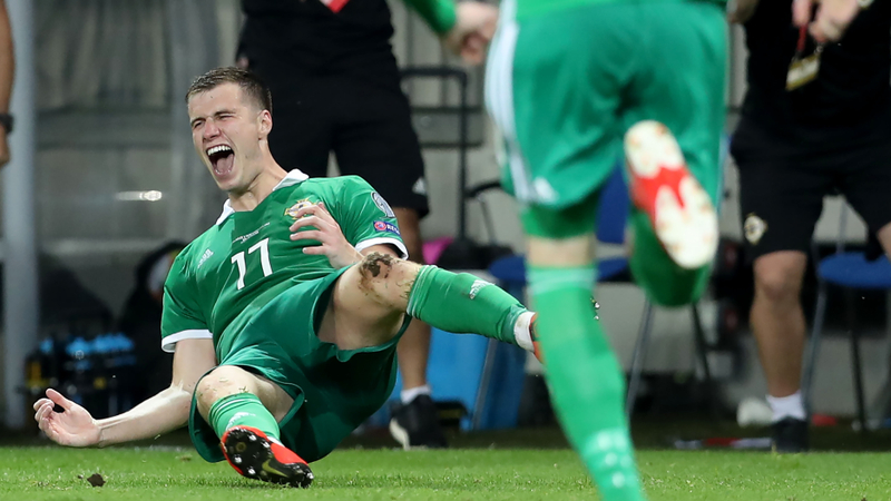 McNair bags first-ever goal as NI make history in Euro qualifiers