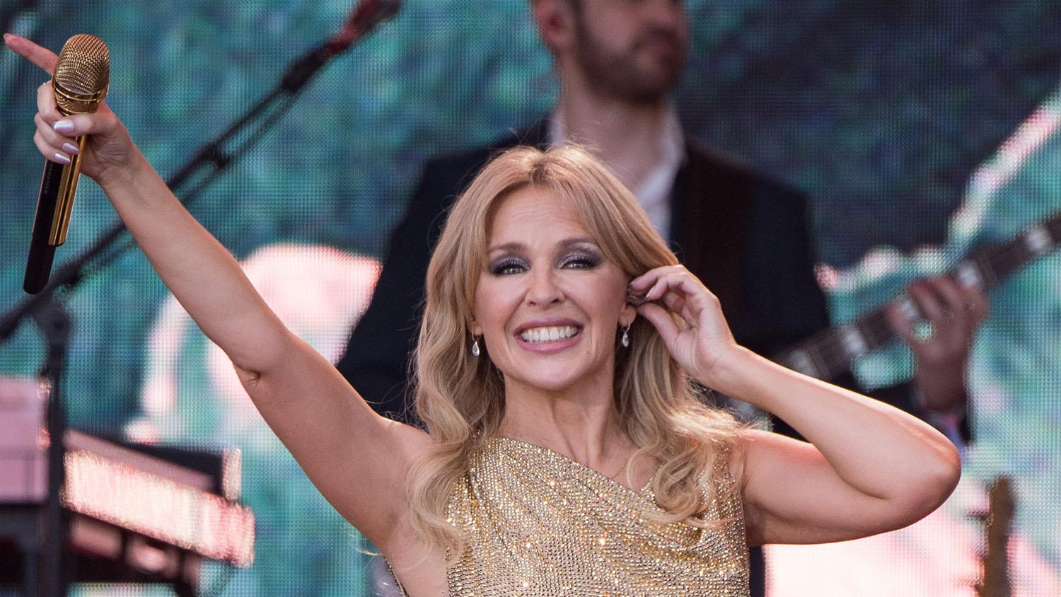 A tearful Kylie Minogue steals the show at Glastonbury