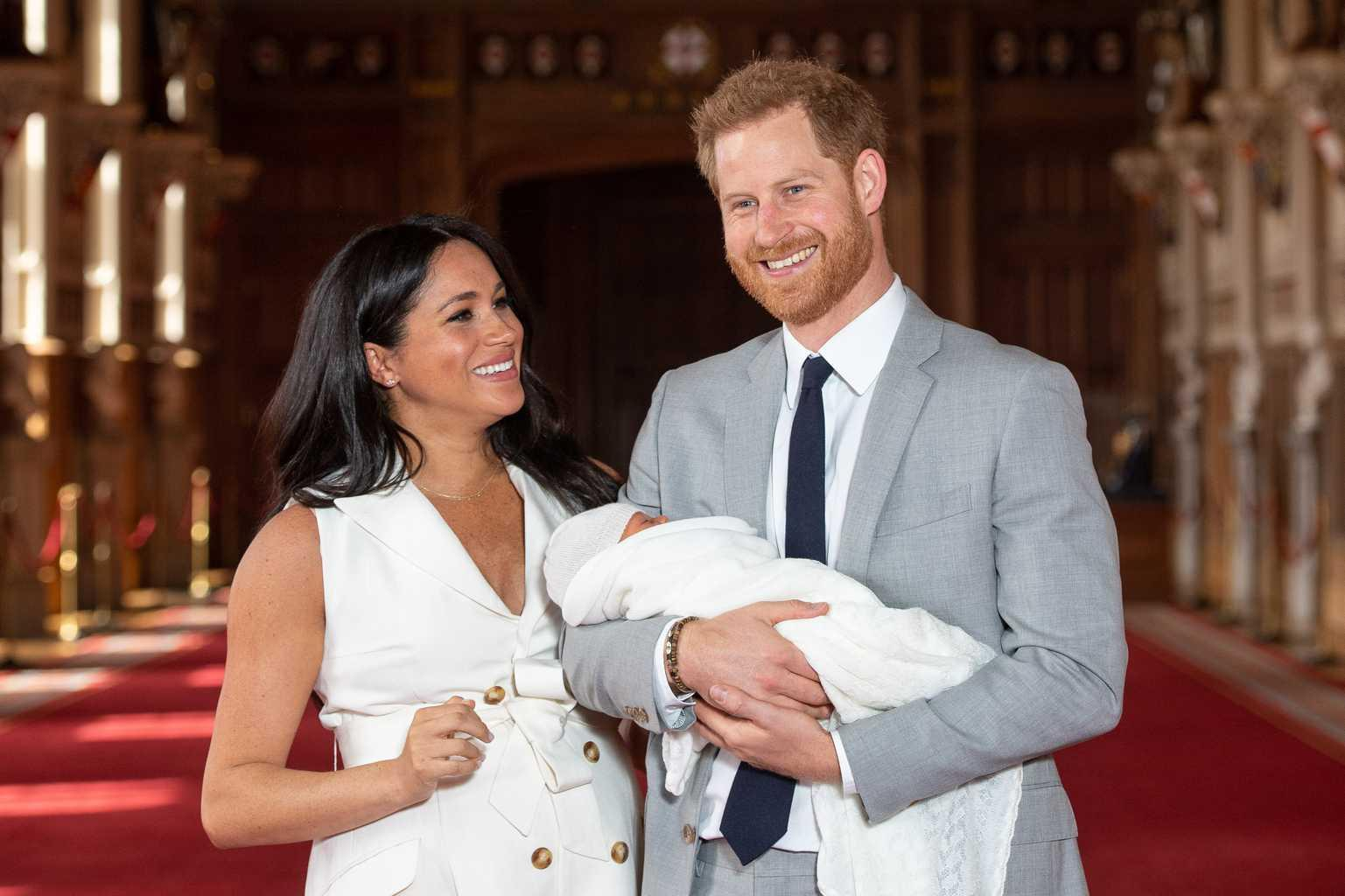 Heads Up, Meghan And Hazza Shared Baby Archie's Adorable Christening Pics