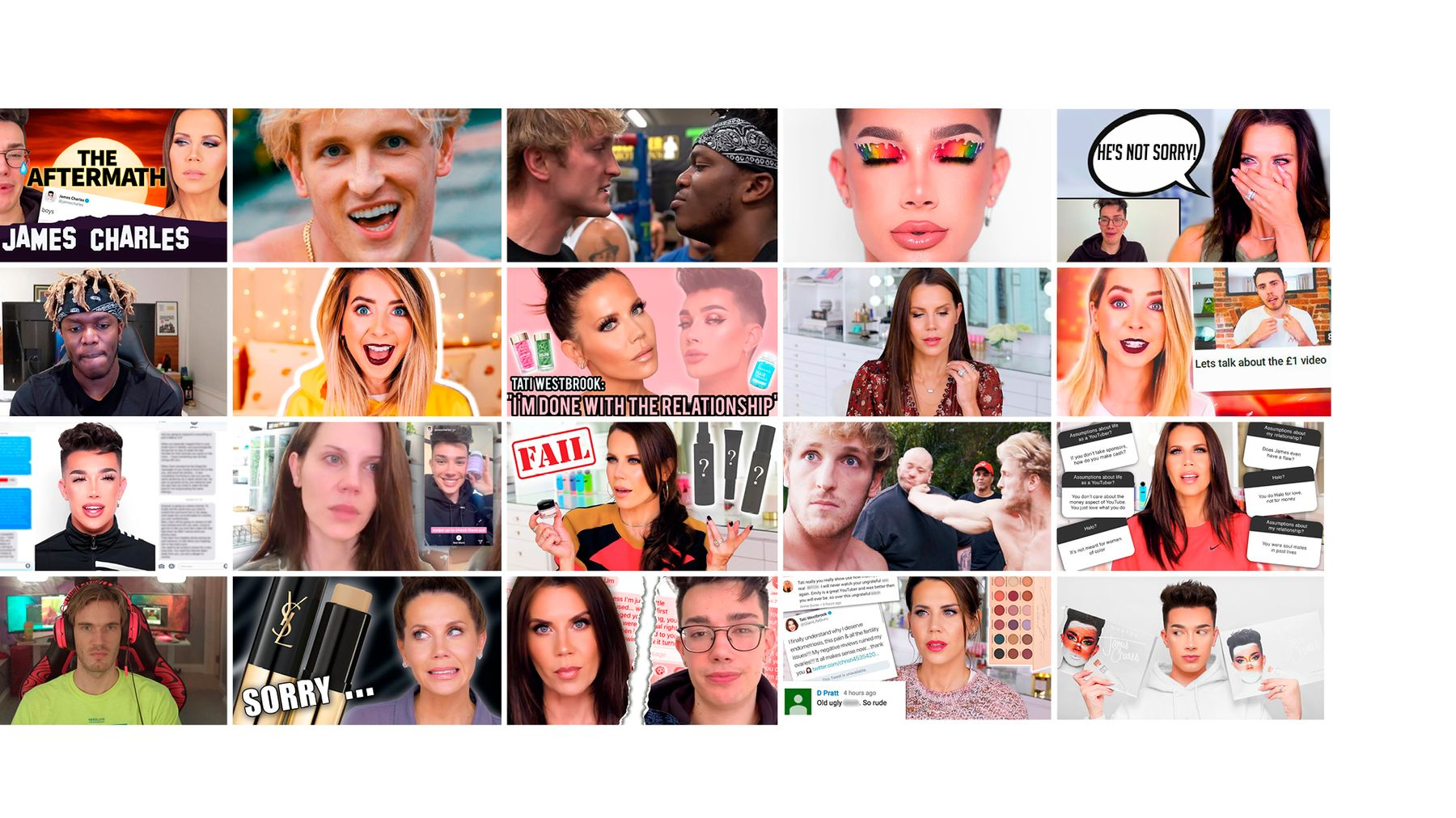 Tati Westbrook vs  James Charles: How Celebrity Youtube Rows Became