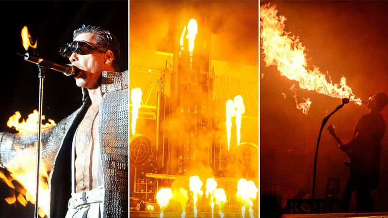 Rammstein's mind-blowing pyrotechnics through the years