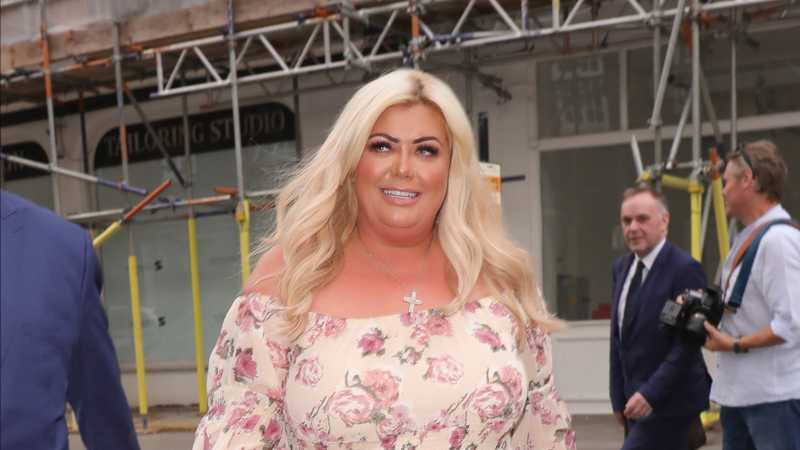 Gemma Collins nearly falls off a boat and into the sea whilst on holiday