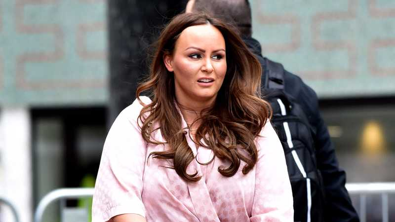 Chanelle Hayes shows off new figure in a body con dress