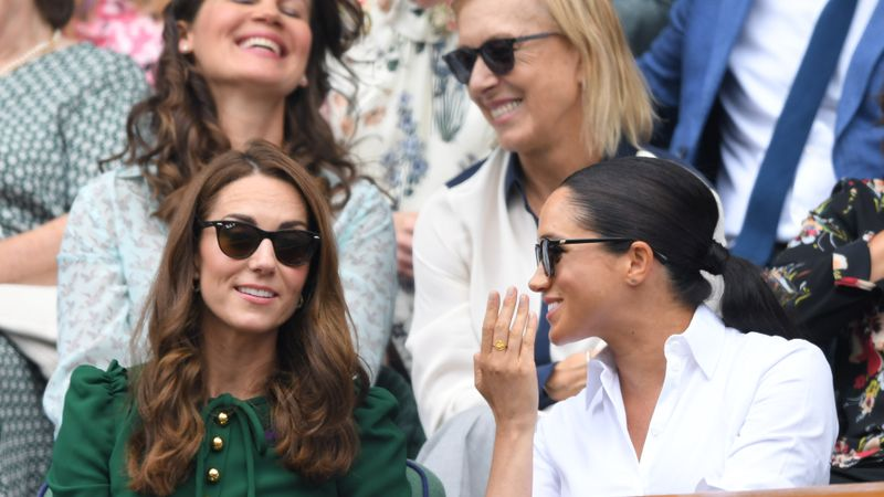 Kate Middleton Stepped In To Comfort Meghan Markle At Wimbledon And It Was The Sweetest Thing