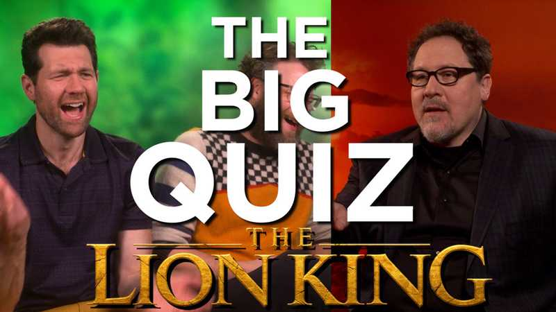 WATCH: The Lion King cast are put to the test in The Big Quiz