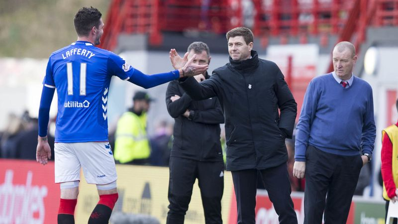 Kyle Lafferty Rangers exit 'close' says Gerrard