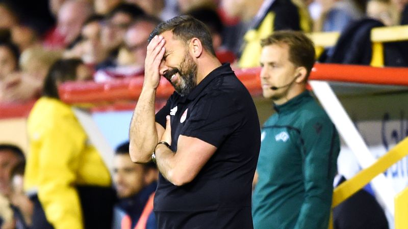 McInnes admits Aberdeen fell short on the night but questions red card