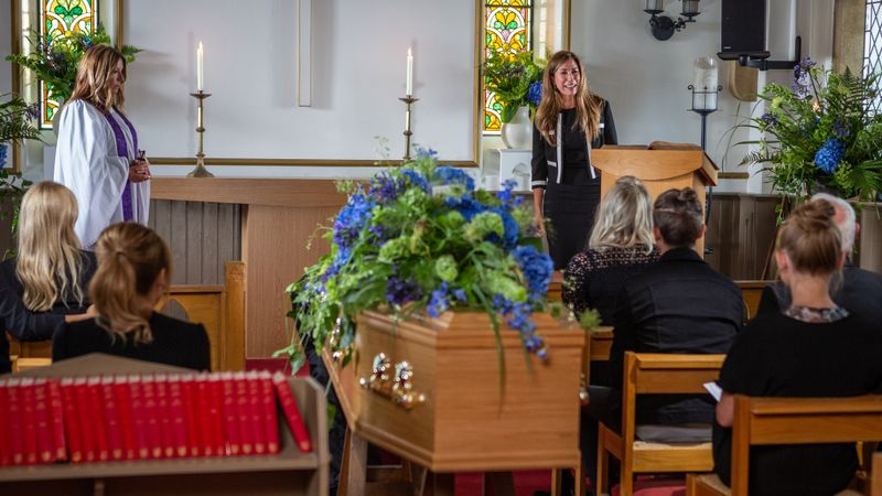 Emmerdale: Megan Macey learns the truth at Frank Clayton's funeral