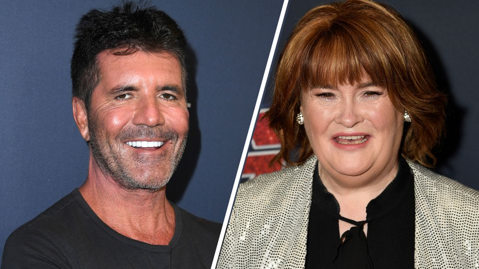 Simon Cowell and Susan Boyle show off impressive weight loss at America's Got Talent