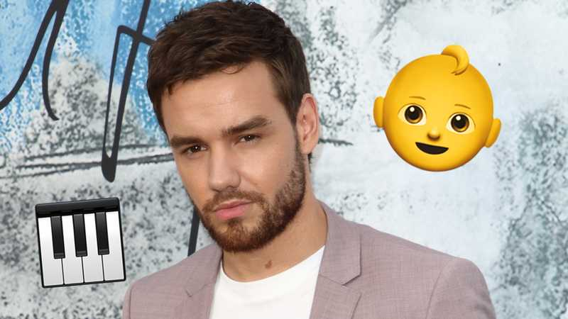 Liam Payne shares super cute photo of Bear playing the piano