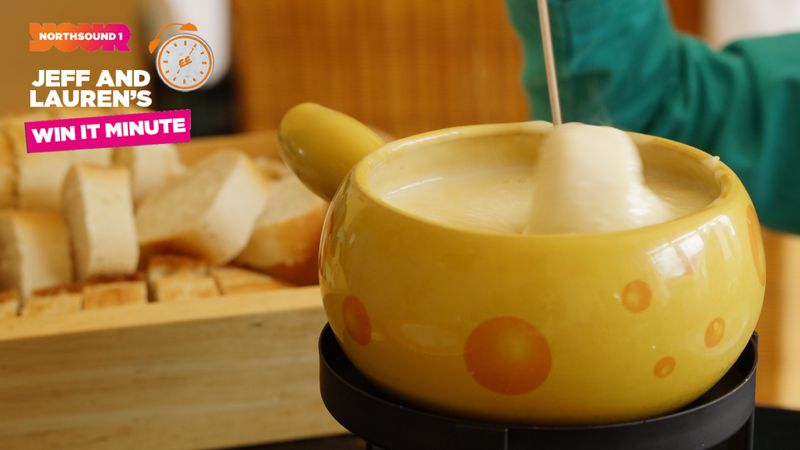 Win it Minute: What term refers to dipping food into a communal pot of melted cheese?