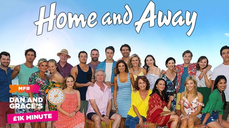 £1K Minute: The soap Home & Away originally started on what TV channel?