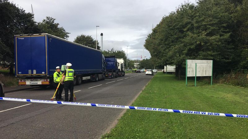 Woman suffers serious head injuries after road accident at Dundee industrial estate