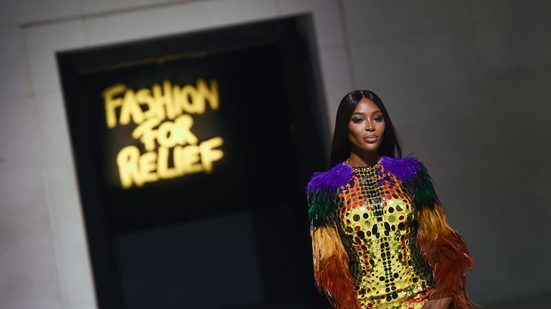 Guess who joined Naomi Campbell on the catwalk at her annual Fashion For Relief show?
