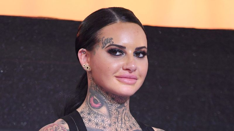 Jemma Lucy sizzles with bright orange hair months after birth