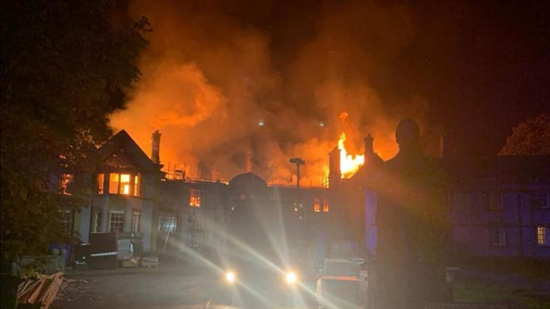 Firefighters deal with Scalesceugh Hall blaze