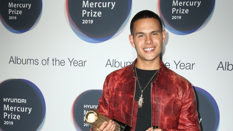 Slowthai Holds Up An Effigy Of Boris Johnson At The Mercury Prize