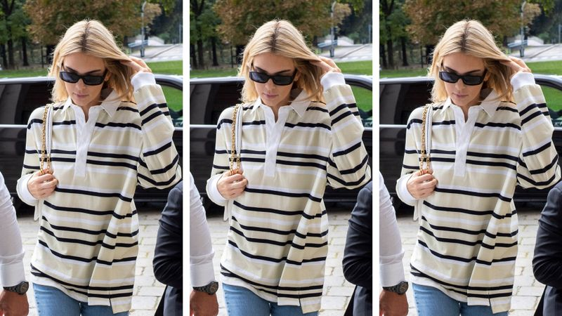 Make like Kendall Jenner and wear a rugby shirt for an off-duty look