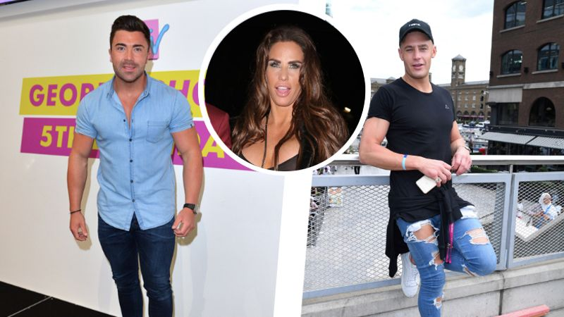 Katie Price spends wild night in hotel room with Geordie Shore lads