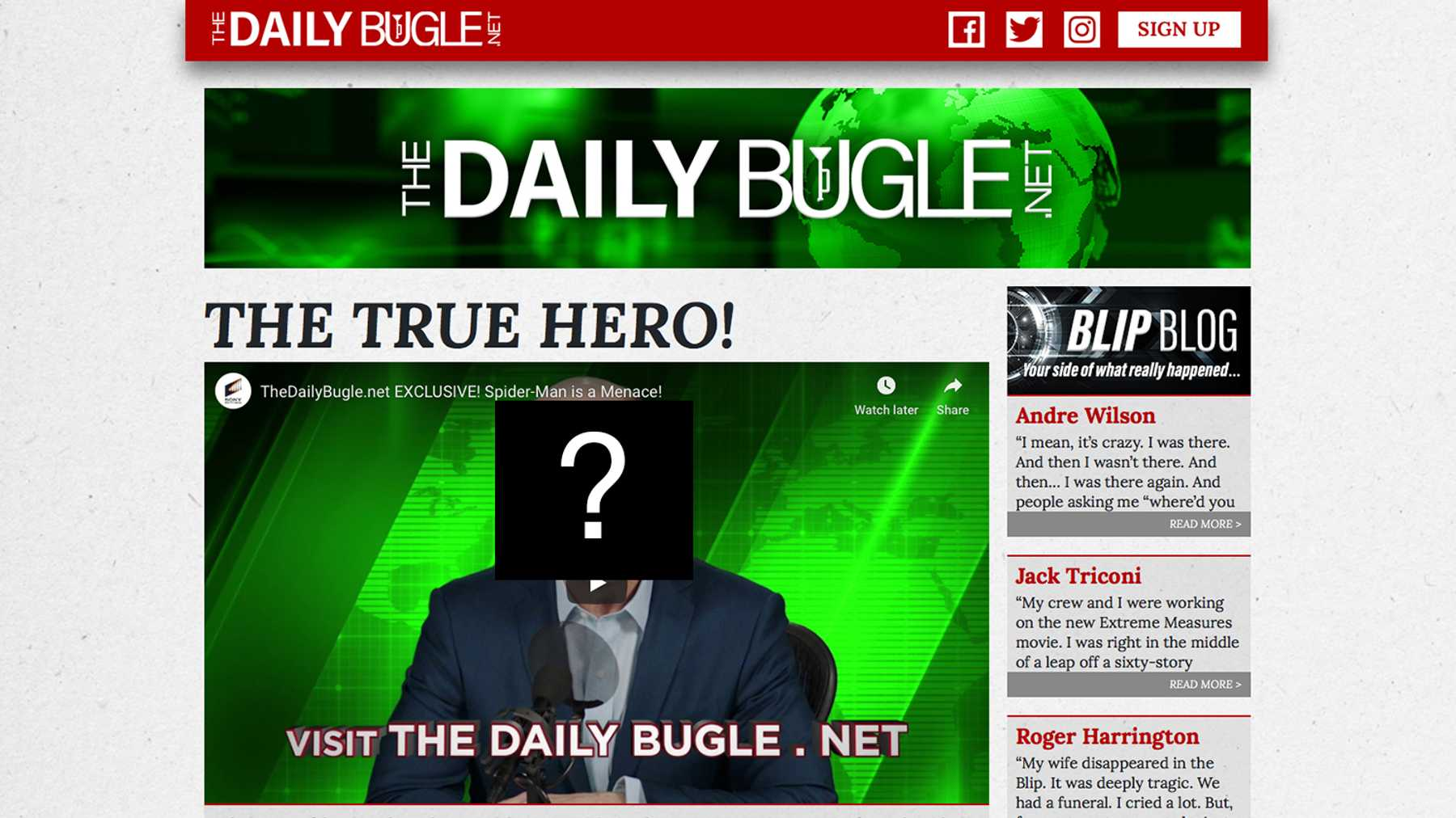 The Daily Bugle Website Launches For Spider-Man: Far From Home ...