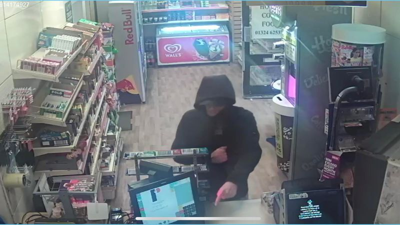 Police investigating Camelon shop robbery release CCTV image