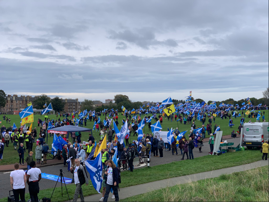 Supporters demand Scotland's independence from UK