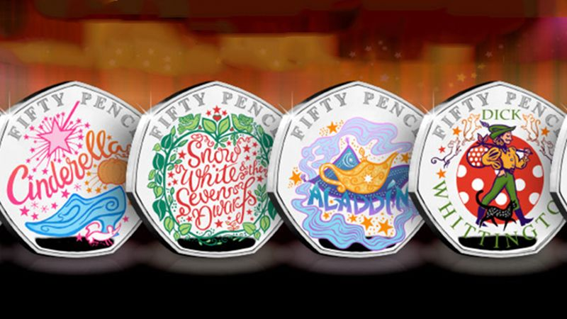 Brand new Pantomime-themed coins released including some Disney favourites