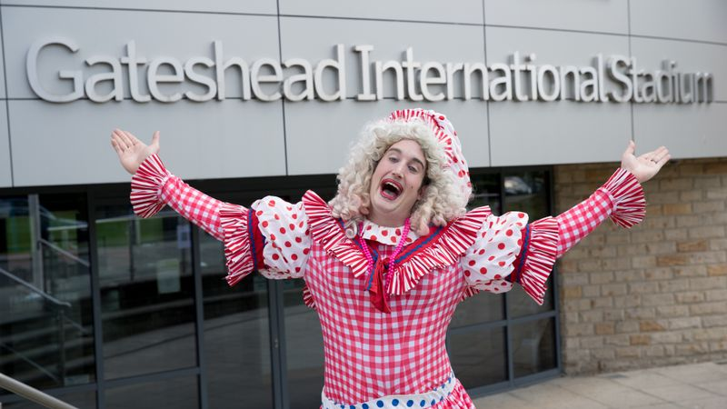 Brendan Healey's son to follow in his panto footsteps...