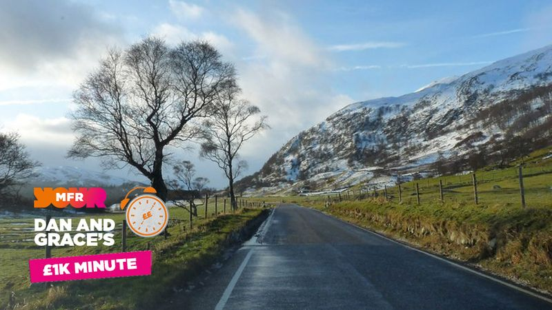 £1K Minute: What A road runs through Newtonmore and Kingussie?