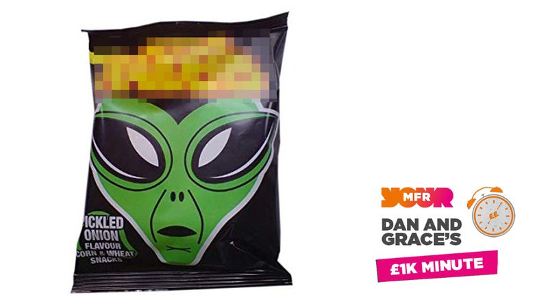 £1K Minute: What brand of crisps has aliens on their packaging?