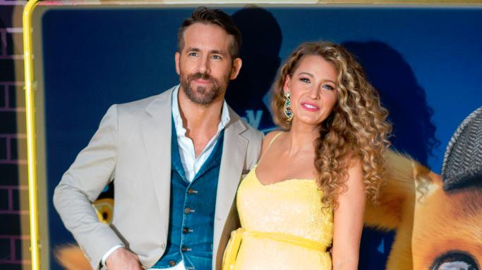 Ryan Reynolds has shared a family photo of him and wife Blake Lively