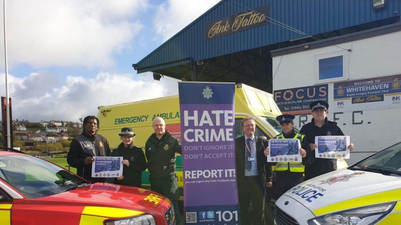 Emergency Services team up with Whitehaven RLFC to tackle hate crime