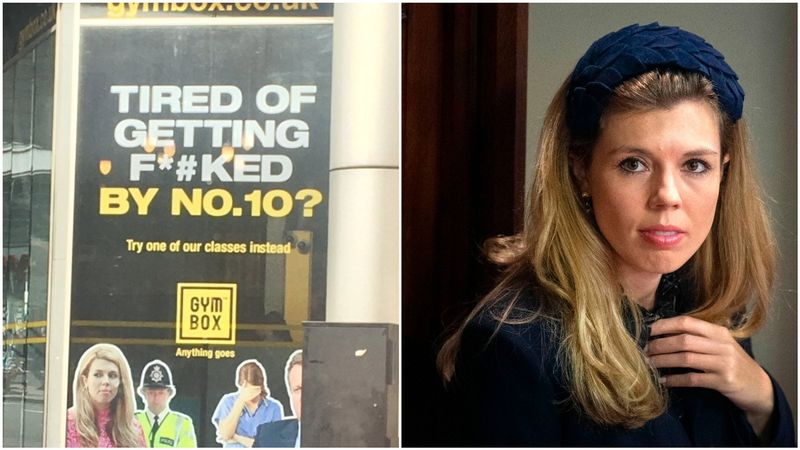 Carrie Symonds used to advertise a gym with the strapline ''Tired Of Getting F****d by Number 10?'