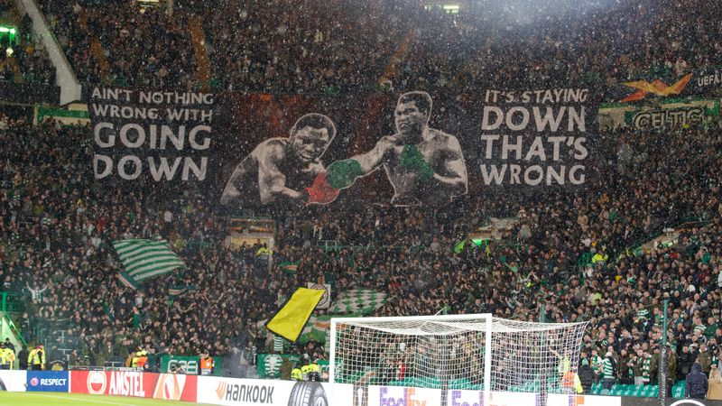 Celtic fined by UEFA for fans setting off flares