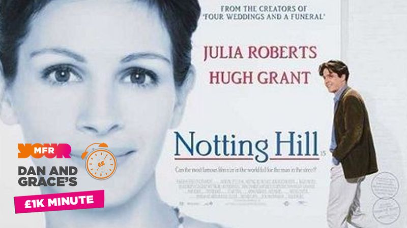 £1K Minute: What was Hugh Grant's characters occupation in the film Notting Hill?