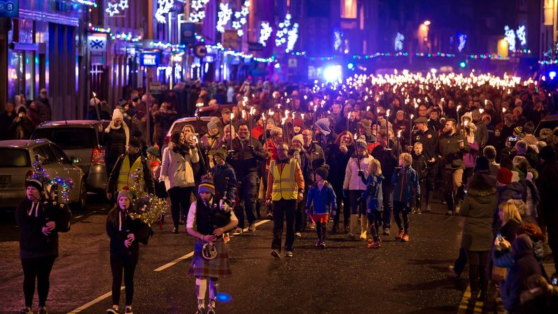 Local kids to benefit from Peebles Hogmanay torchlight procession