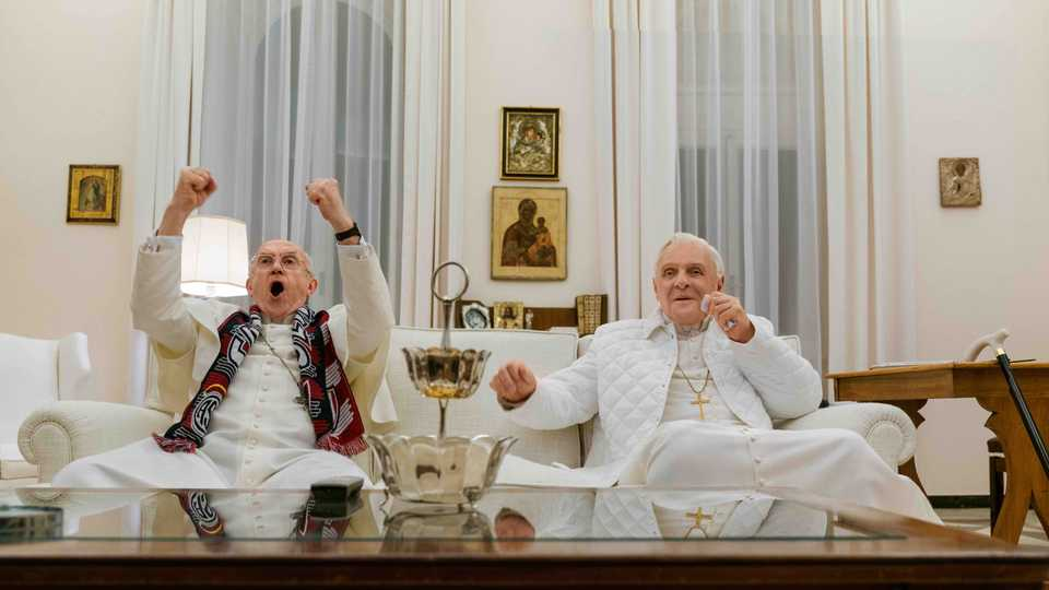 Картинки по запросу 'The Two Popes' Trailer: Two Popes Enter, One Pope Leaves