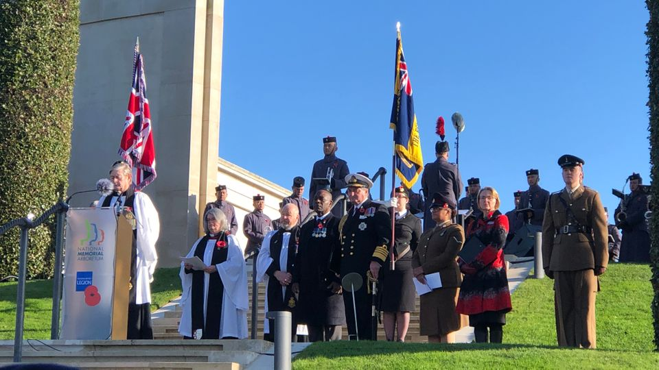 Thousands gathered at the National Memorial Arboretum on Remembrance Sunday.