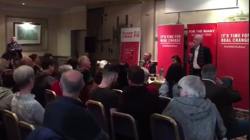 Heckler ejected from Jeremy Corbyn speech in Dundee