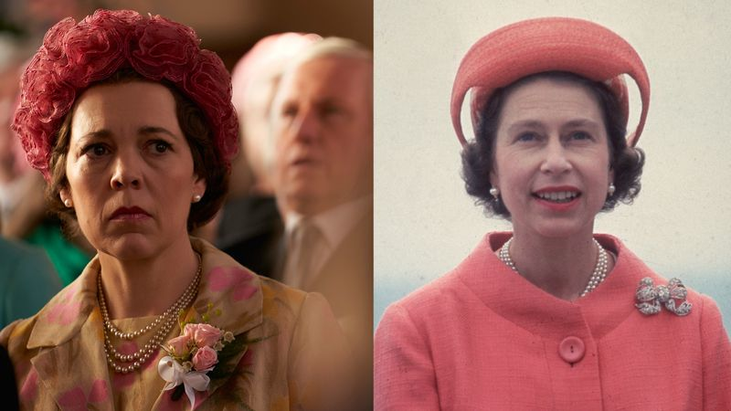 Olivia Colman's Queen Outfits Compared to The Actual Queen's Outfits