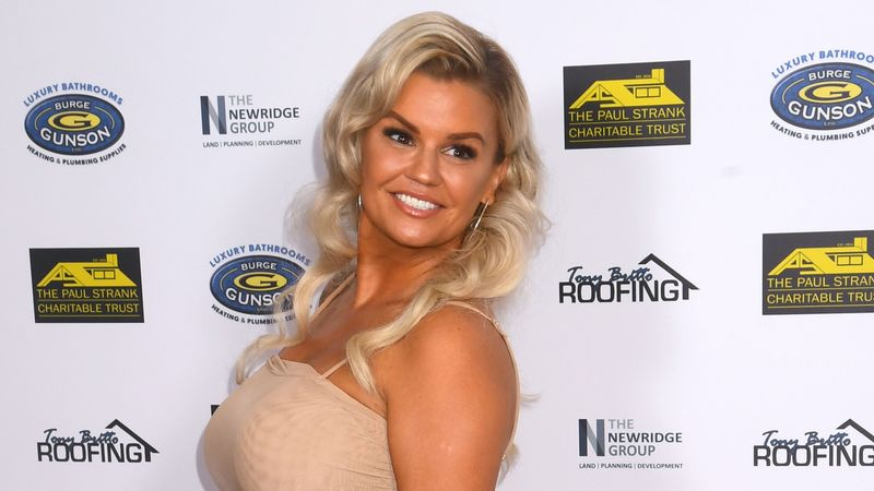 Kerry Katona shows off petite new figure and pink hair
