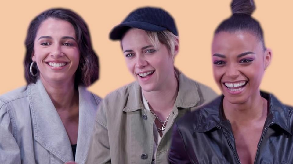 Charlie's Angels Kristen Stewart, Naomi Scott and Ella Balinska reveal how angelic they really are 👼🏼